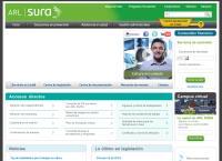 Sitio web de Arp Sura