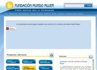 Sitio web de Fundacion Mundo Mujer