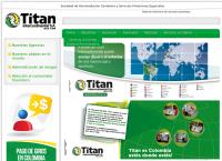Sitio web de Titan Intercontinental Cali