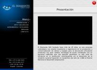 Sitio web de El Diamante Vidrios y Espejos SAS