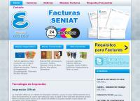 Sitio web de Impresos Epsilon, C.a.