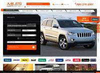 Sitio web de Miles Car Rental
