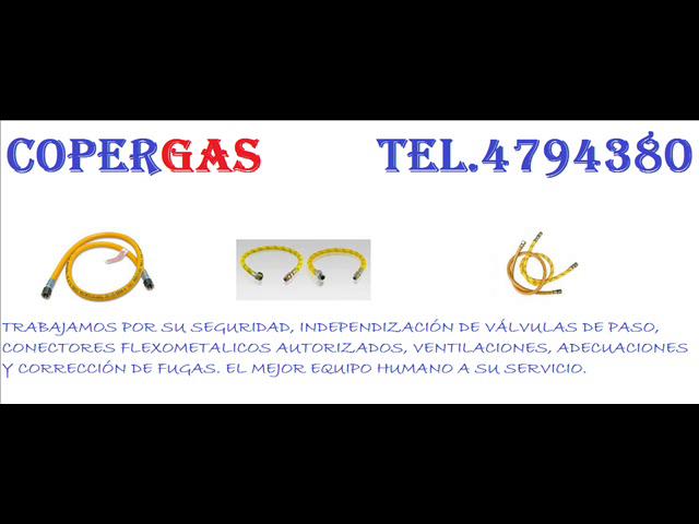 Firma Instaladora de gas Natural