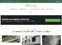 Sitio web de icopor para construccion MACROPOR