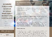 Sitio web de GUSMARK PUBLICIDAD INTERIOR  EXTERIOR MONTAJES Y ESTRUCTURAS METALICAS