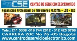 Reparacion de televisores; centro de servicio electrónico