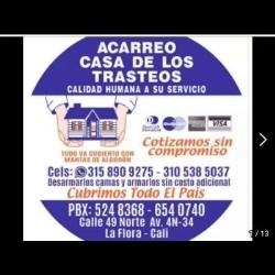 ACARREO CASA DE LOS TRASTEOS EN CALI